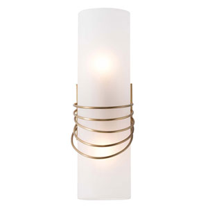 Hampton Frosted 14-Inch Two-Light Wall Sconce