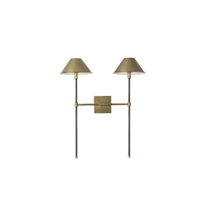 Havana Antique Brass Two-Light Wall Sconce