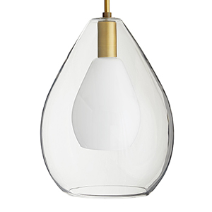 Nala Clear 15-Inch One-Light Pendant