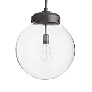 Reeves Gray 15.5-Inch One-Light Outdoor Pendant