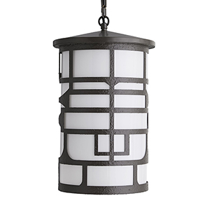 Shani Gray Three-Light Outdoor Pendant