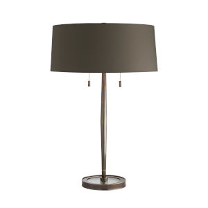 Malin Heritage Brass Two-Light Table Lamp