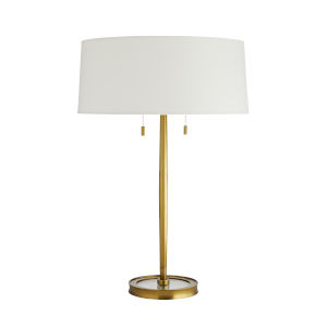Malin Antique Brass Two-Light Table Lamp
