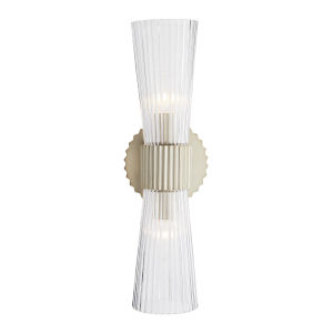 Whittier Silver Two-Light Wall Sconce
