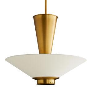Tavoli Antique Brass Seven-Light Pendant