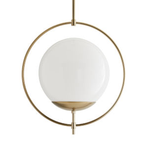 Volta Pale Brass One-Light Pendant