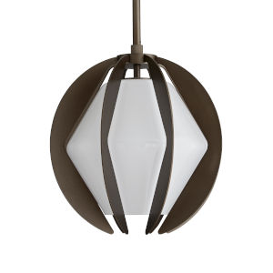 Puzol Aged Brass One-Light Outdoor Pendant