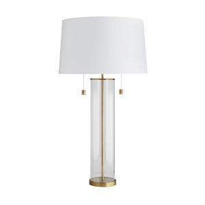 Savannah Antique Brass Two-Light Table Lamp