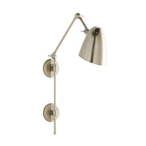 Ace Vintage Silver One-Light Wall Sconce