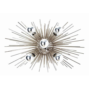 Zanadoo Polished Nickel 12-Inch Five-Light Wall Sconce