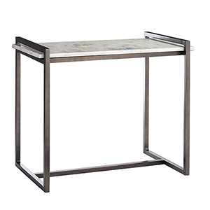 Hollis Dark Natural Iron Accent Table