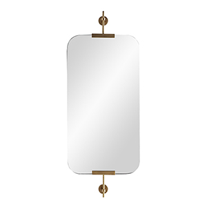 Madden Antique Brass Wall Mirror