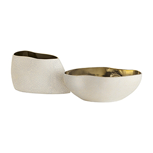 Vanessa Metallic Gold Centerpiece, Set of Two