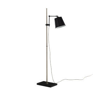 Watson Black One-Light Floor Lamp