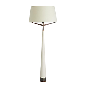 Elden White One-Light Floor Lamp