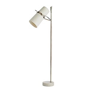 Yasmin Silver Two-Light Floor Lamp