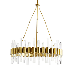 Haskell Gold Eight-Light Chandelier