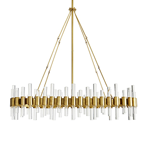 Haskell Gold 10-Light Chandelier