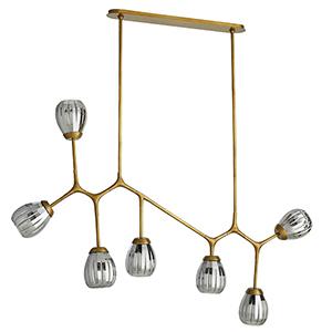 Smyth Gold Seven-Light Chandelier