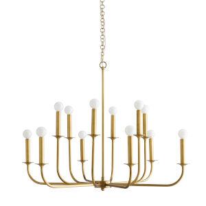 Breck Antique Brass 12-Light Chandelier