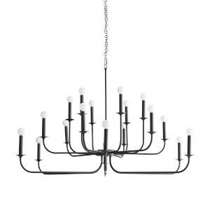 Breck Bronze 18-Light Chandelier