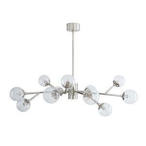 Dallas Polished Nickel 35-Inch 12-Light Mini Chandelier