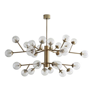 Dallas Vintage Brass 58-Inch 30-Light Chandelier