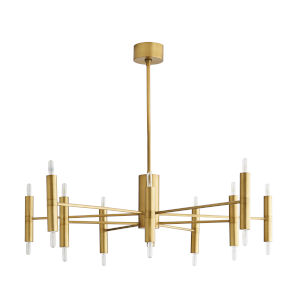 Bozeman Antique Brass 20-Light Chandelier