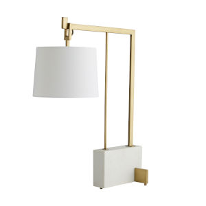 Ray Antique Brass One-Light Table Lamp