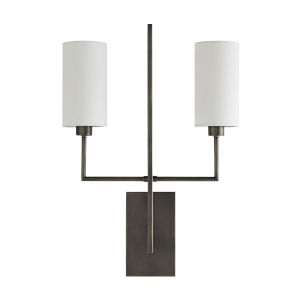 Ray Aged Bronze Two-Light Wall Sconce