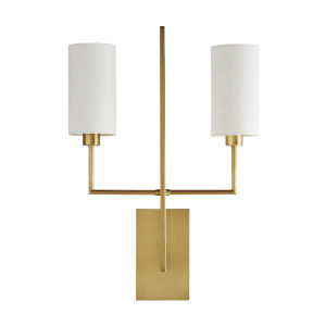 Ray Antique Brass Two-Light Wall Sconce