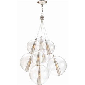 Caviar Clear 42-Inch Eight-Light Pendant
