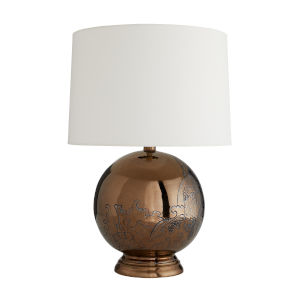 Frank Ponterio Bronze One-Light Flint Lamp