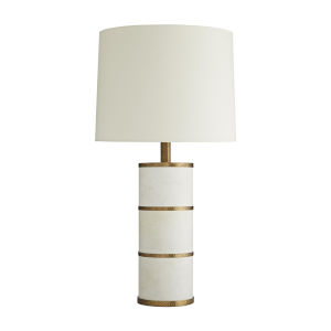 Frank Ponterio Antique Brass Two-Light Wells Lamp