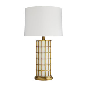 Frank Ponterio Antique Brass One-Light Curtis Lamp