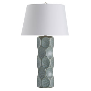 Gunderson Sky Blue Reactive Glaze One-Light Lamp
