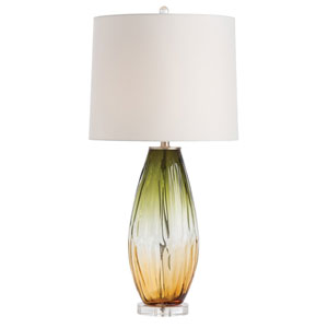 Celine Olive and Amber Ombre 16-Inch One-Light Table Lamp