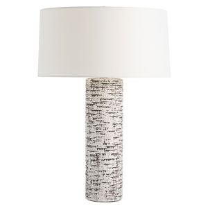 Nico Ivory Glaze with Charcoal Wash Lamp