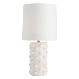 Robertson Ivory Crackle One-Light Lamp