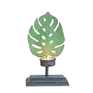 Iron Leaf Small Tealight Candle Holder