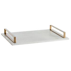 Exton White Polished 3-Inch Marble Slab Tray