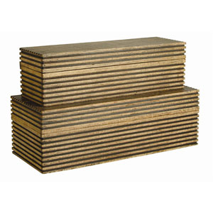 Trinity Light Brown 8-Inch Boxes Set of 2