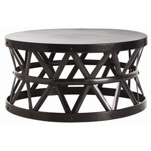 Stanley English Bronze Cocktail Table