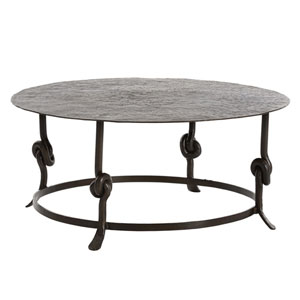 Arnot Natural Iron 38-Inch Coffee Table