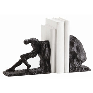 Jacque Bronze with Gold Bookend Set of 2
