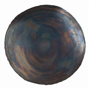 Kensey Burnt Iron 25-Inch Large Abstract Wall Plaque Decor