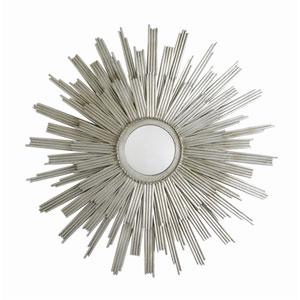 Galaxy Silver Leaf Star Iron Wall Mirror