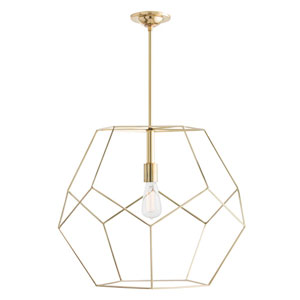 Mara Polished Brass Large Pendant
