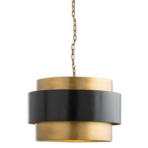 Nolan Vintage Brass Pendant
