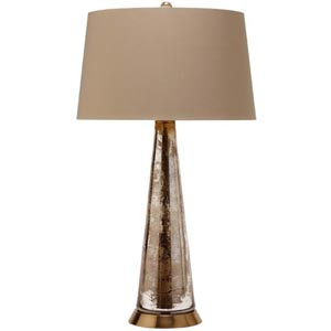 Silver Camel Tapered Glass Table Lamp